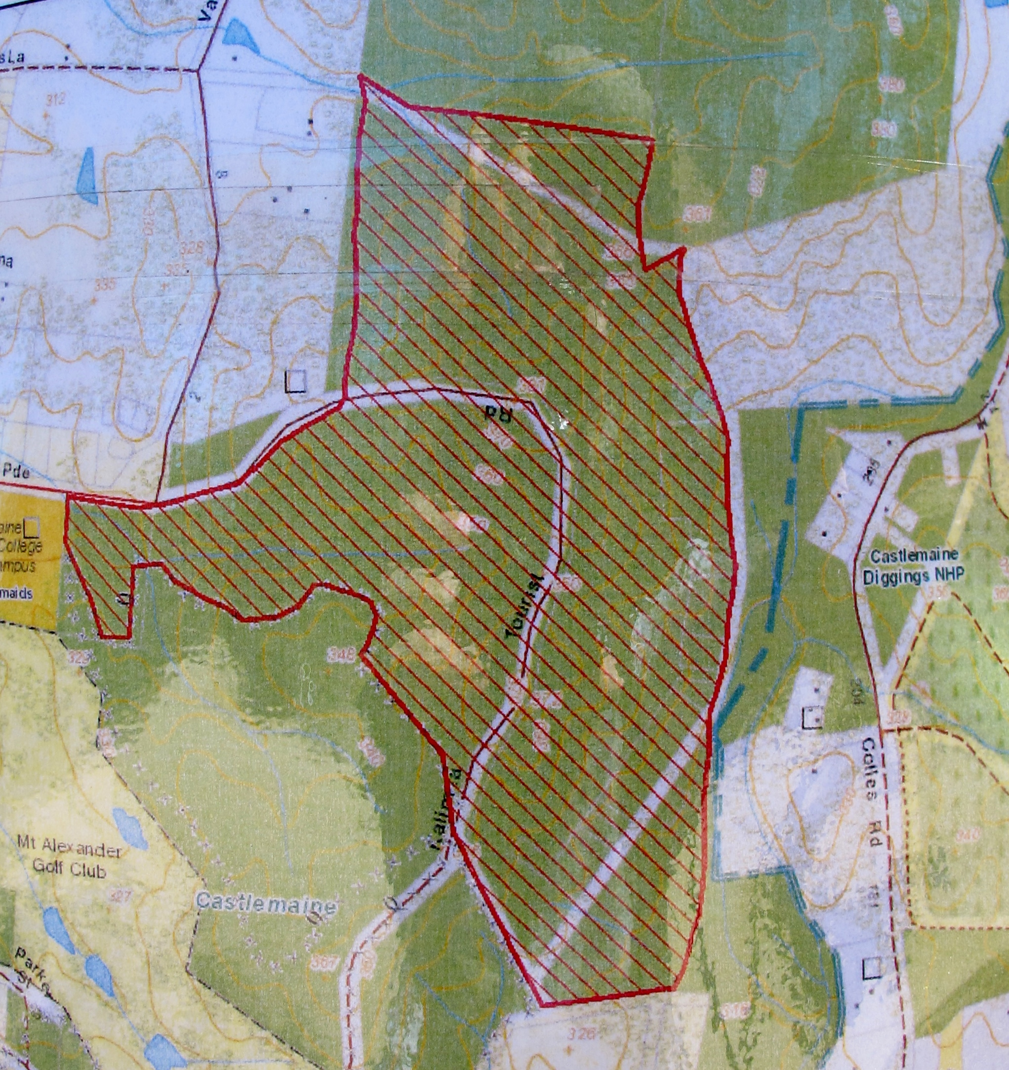 Proposed burn area. It's centred on the Tourist road, and includes the area burned in 2009