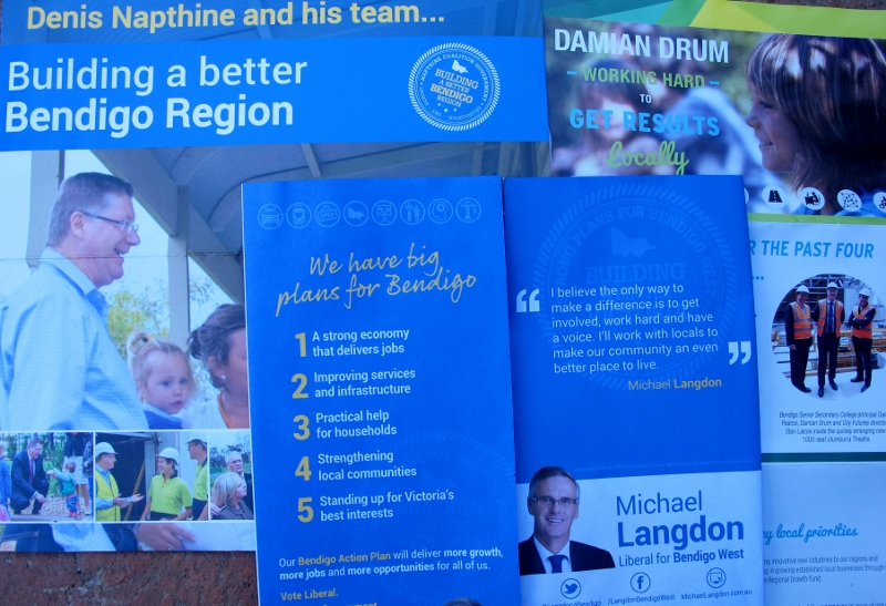 Brochures: if these are any indication, the Coalition isn't very interested in the environment.